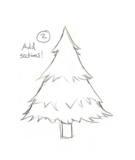 drawing christmas trees the story elves help with writing editing illustrating and designing your own stories - Easy Christmas Tree
