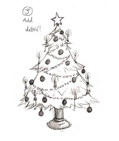 Drawing Christmas trees | The Story Elves - Help with writing, editing, illustrating and designing your own stories