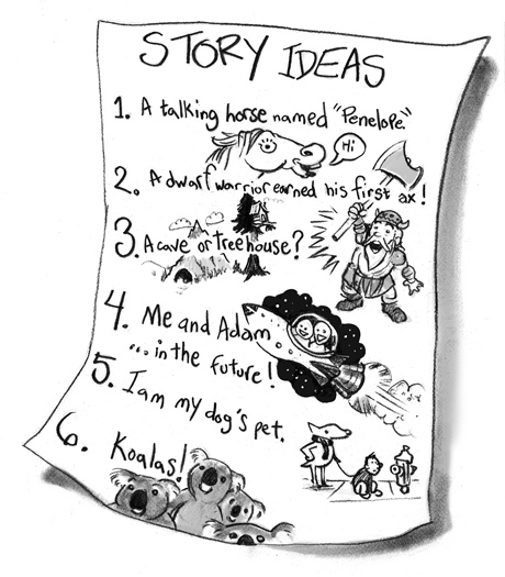 How do I find a topic to write about? | The Story Elves - Help with writing, editing, illustrating and designing your own stories